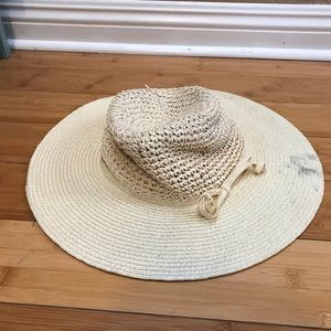 Accessories - Floppy Boho Straw Beach Hat